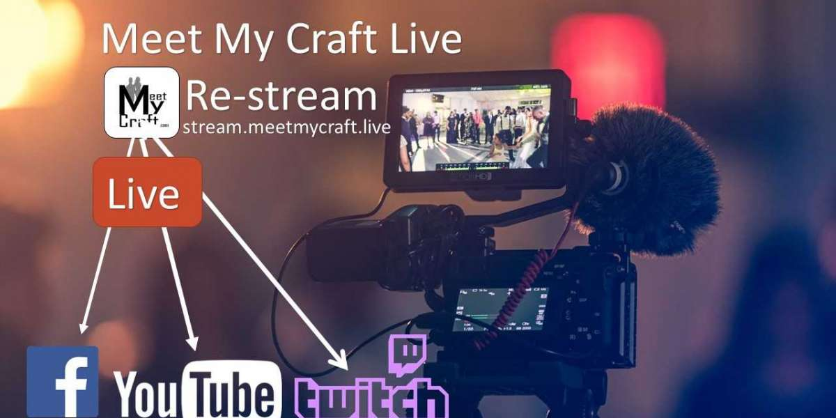 How to re-stream your live video group chat and broadcast it to all Social media platforms in Live meet my Craft